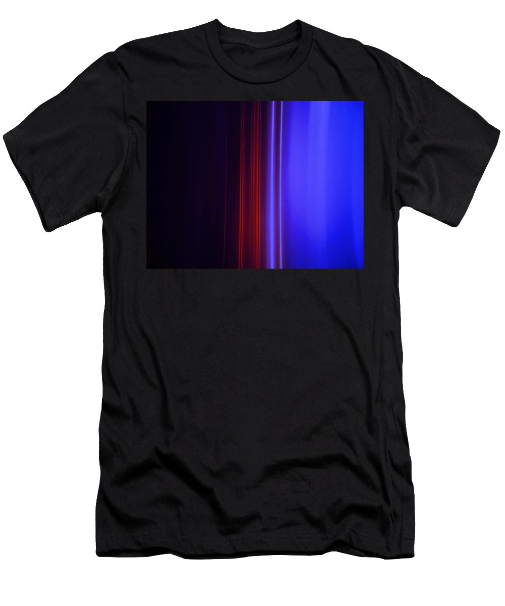 Abstract Blue Men's T-Shirt (Athletic Fit) featuring the painting Realm Of Color by Eric Schiabor