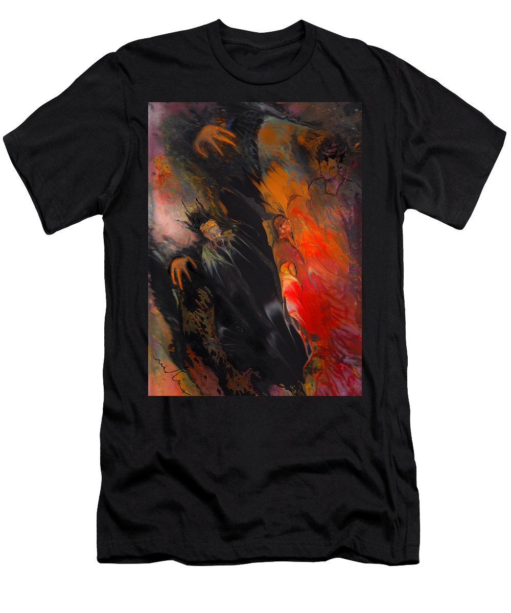 Fantasy Men's T-Shirt (Athletic Fit) featuring the painting Reaper by Miki De Goodaboom