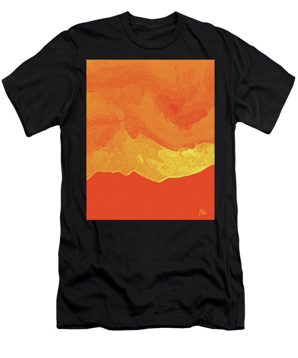 Birth Men's T-Shirt (Athletic Fit) featuring the digital art Rebirth by Claudia O'Brien