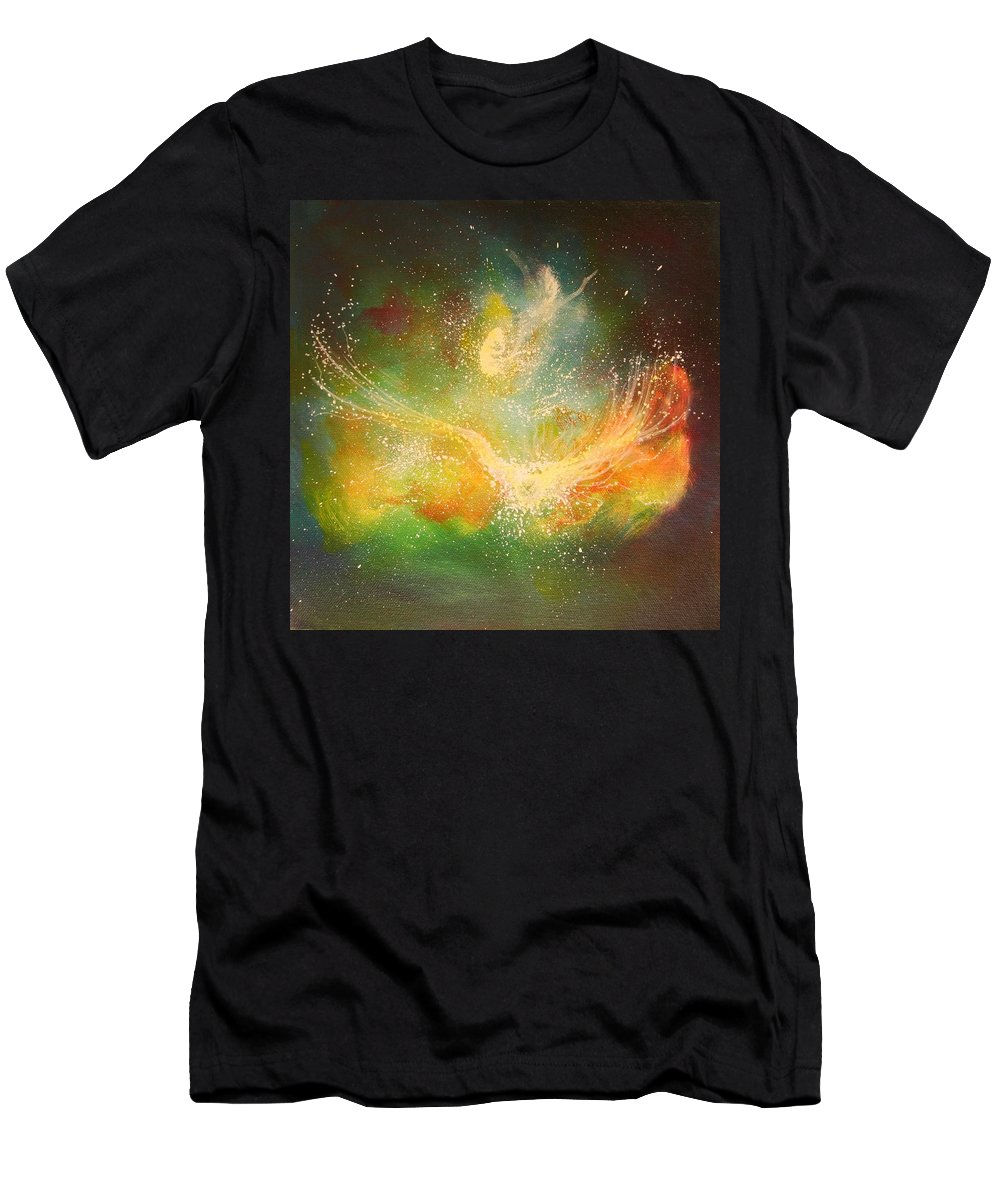 Energy Men's T-Shirt (Athletic Fit) featuring the painting Reborn by Naomi Walker