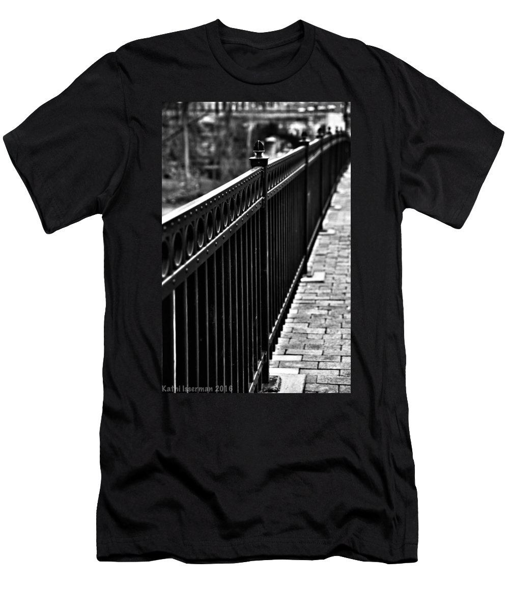 Ellicott City Men's T-Shirt (Athletic Fit) featuring the photograph Receding Lines by Kathi Isserman
