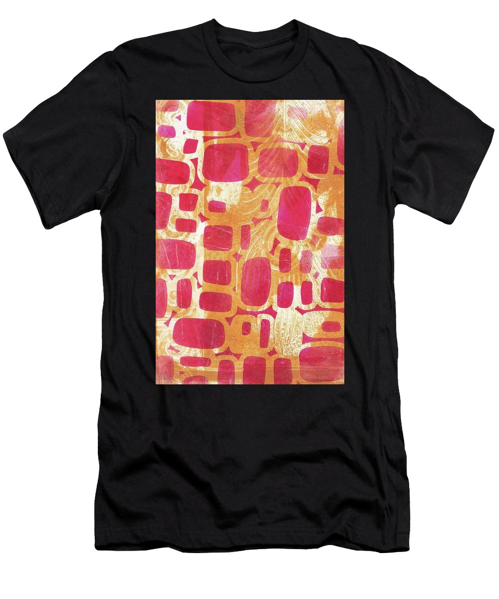 Abstract Men's T-Shirt (Athletic Fit) featuring the painting Rectangles And Jangles by Cynthia Westbrook