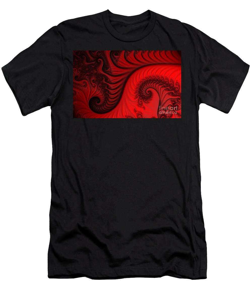 Clay Men's T-Shirt (Athletic Fit) featuring the digital art Red Ants by Clayton Bruster