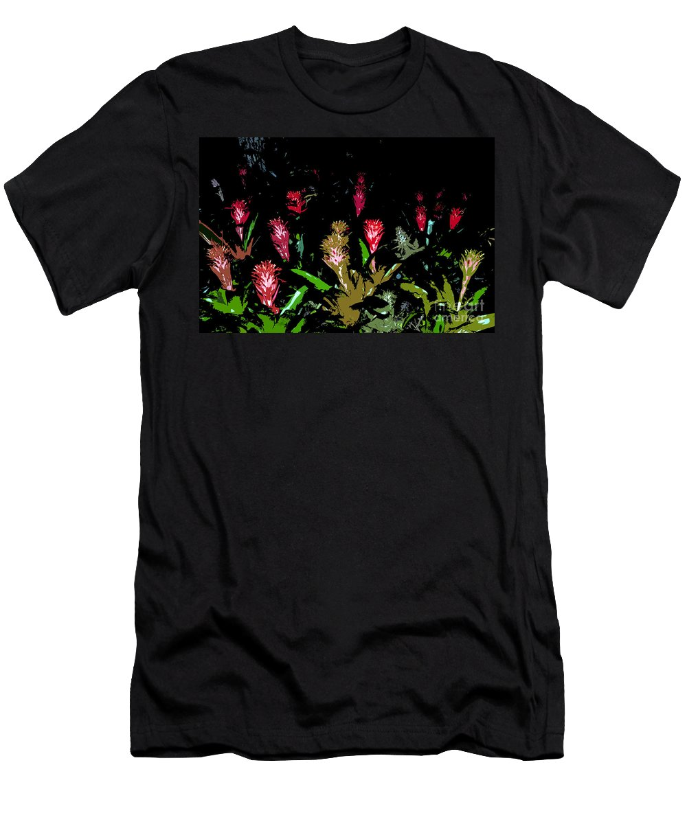 Red Men's T-Shirt (Athletic Fit) featuring the painting Red Blooms by David Lee Thompson