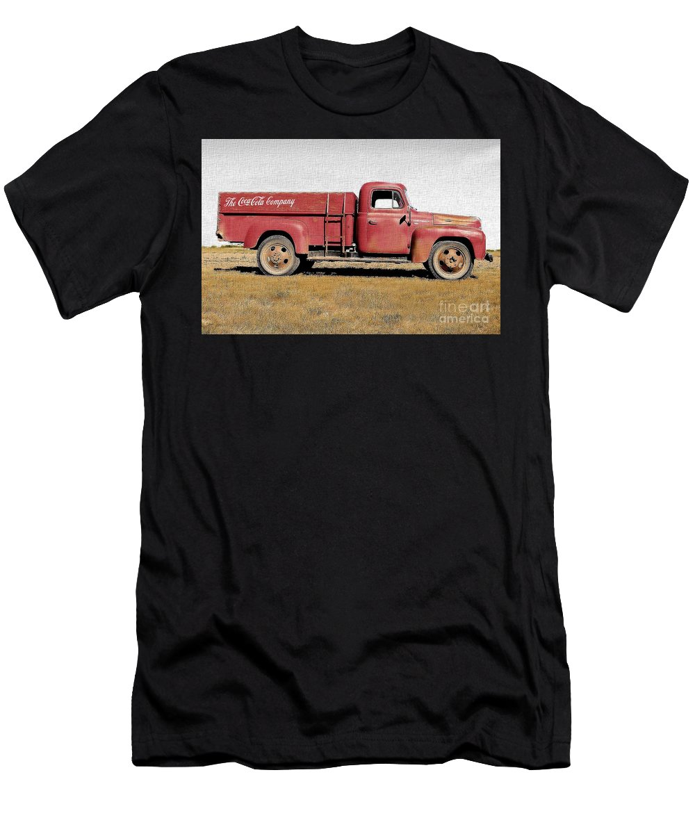 Photography Men's T-Shirt (Athletic Fit) featuring the photograph Red Coke Truck by Anthony Djordjevic