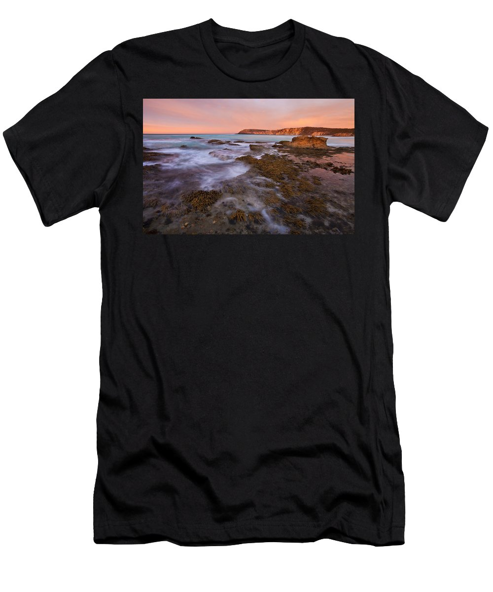 Sunrise Men's T-Shirt (Athletic Fit) featuring the photograph Red Dawning by Mike Dawson