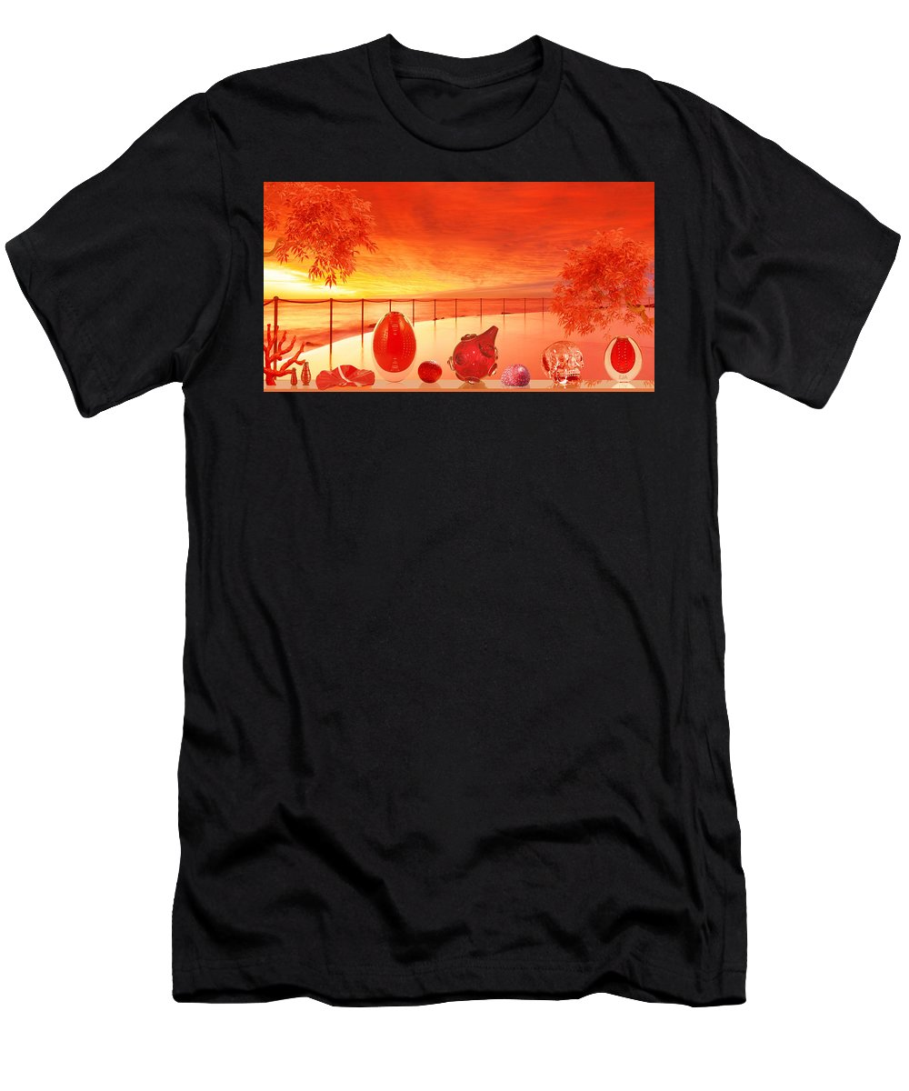 Men's T-Shirt (Athletic Fit) featuring the digital art Red by Eric Amsellem