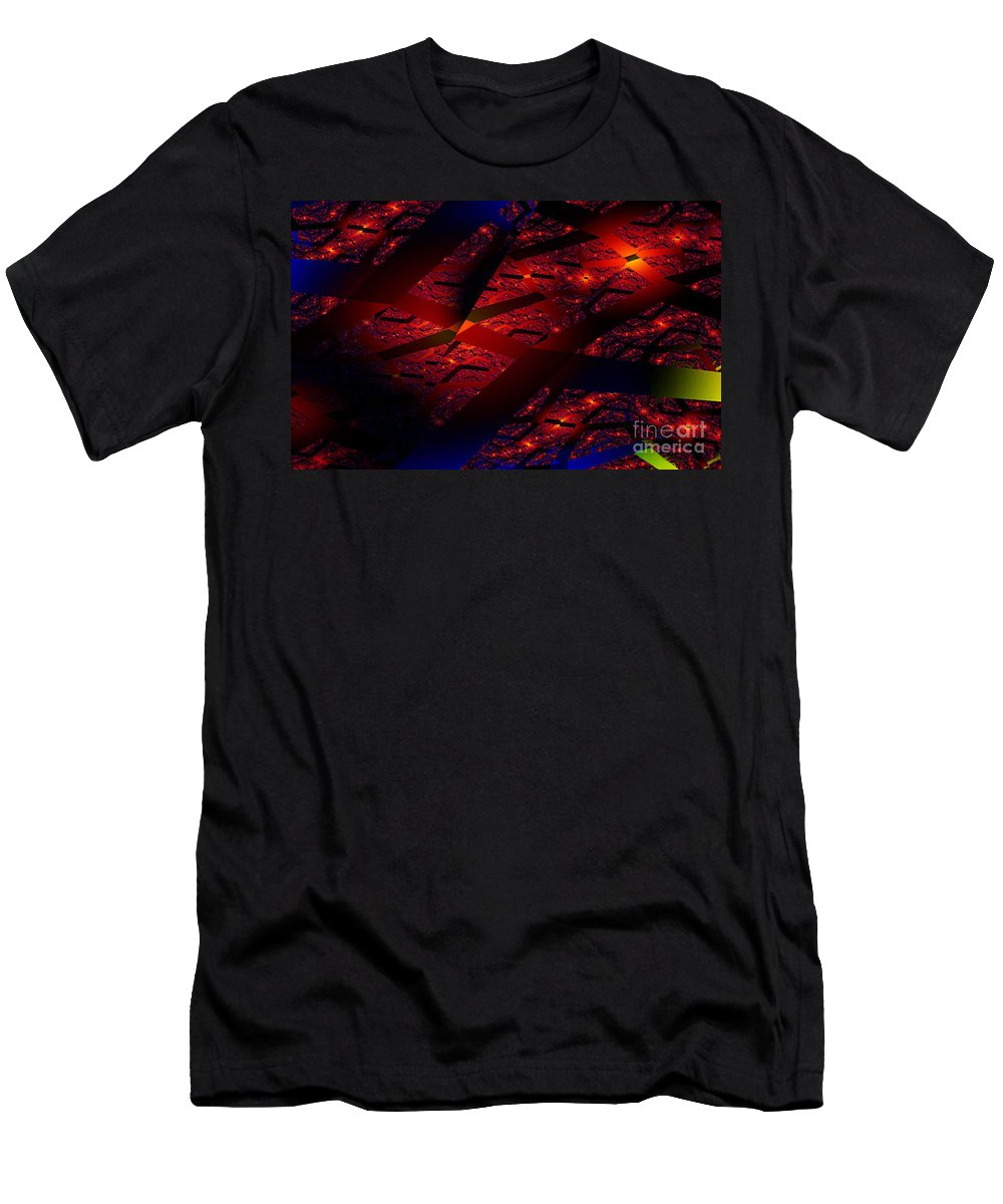 Clay Men's T-Shirt (Athletic Fit) featuring the digital art Red Hot Confetti by Clayton Bruster