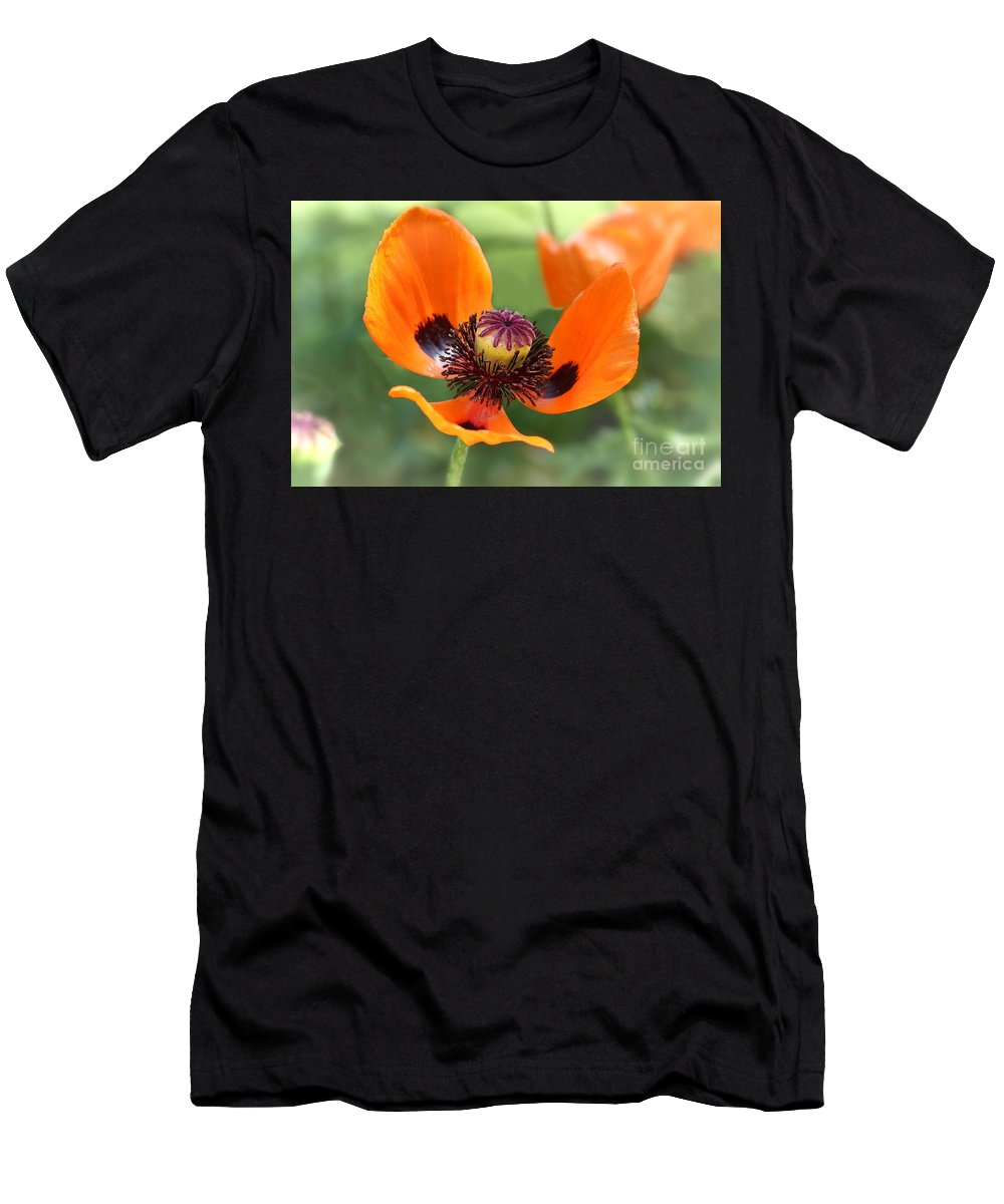 Flower Men's T-Shirt (Athletic Fit) featuring the photograph Red Poppy I by Teresa Zieba