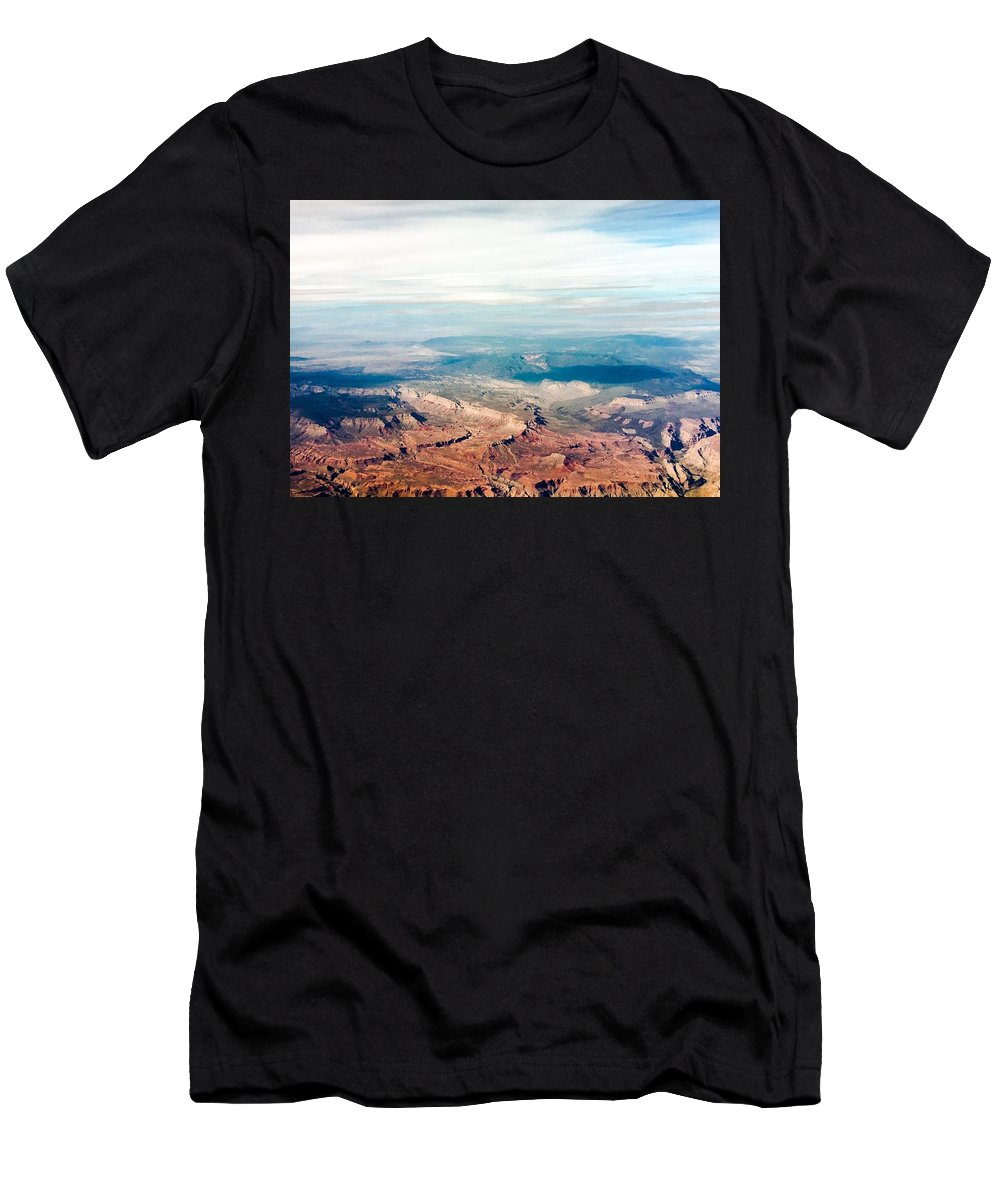 Landscape Men's T-Shirt (Athletic Fit) featuring the photograph Red Rock by Dorothy DiGrigoli