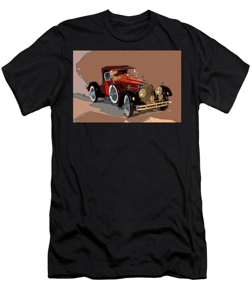 Stutz Men's T-Shirt (Athletic Fit) featuring the photograph Red Stutz by James Rentz