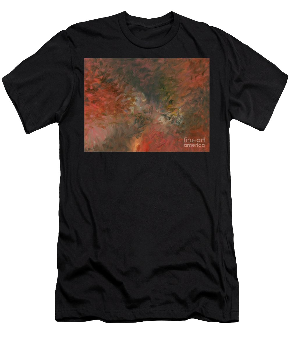 Red Men's T-Shirt (Athletic Fit) featuring the painting Red Triumph by Nadine Rippelmeyer