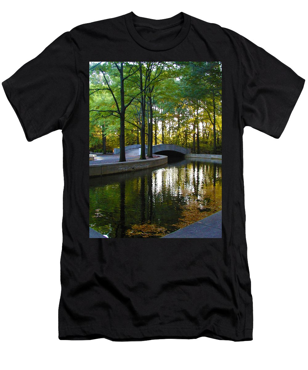 Washington Men's T-Shirt (Athletic Fit) featuring the photograph Reflecting Pool Roosevelt Park by Bill Cannon