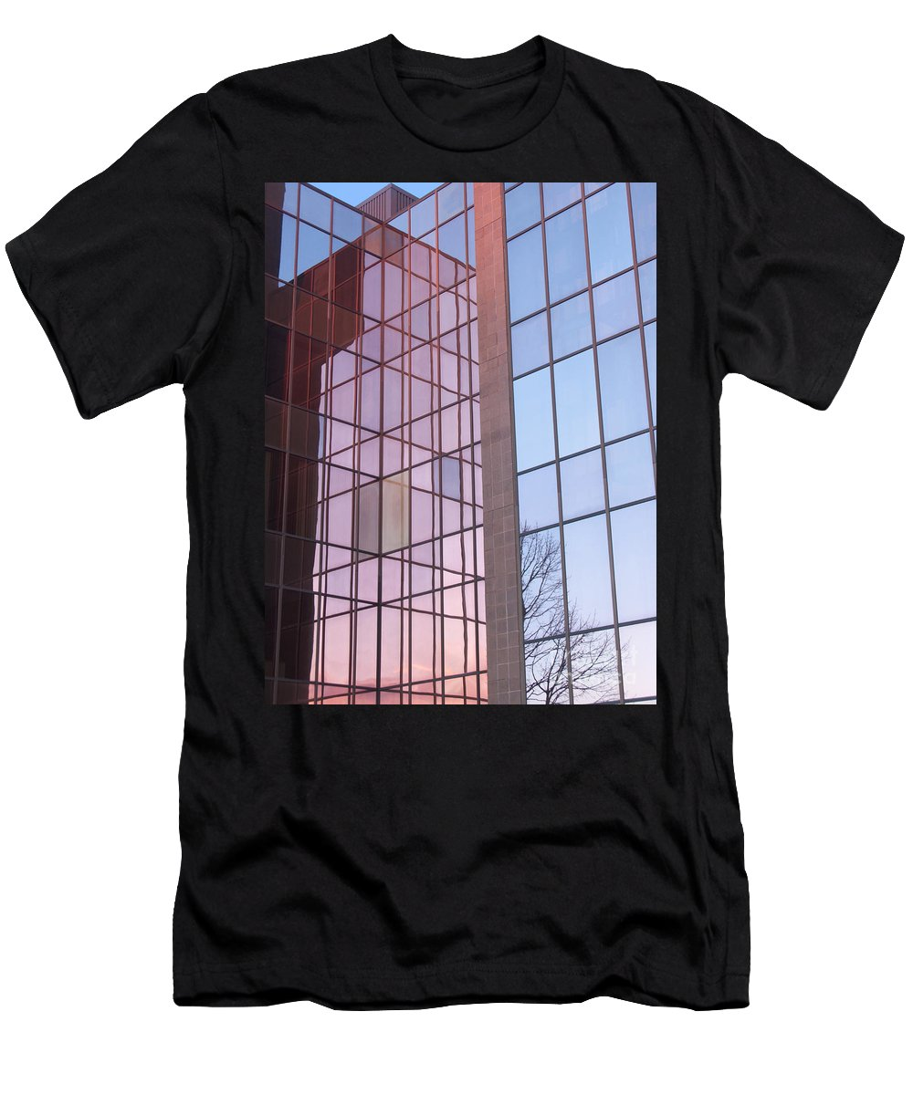 Reflection Men's T-Shirt (Athletic Fit) featuring the photograph Reflecting Sundown by Ann Horn