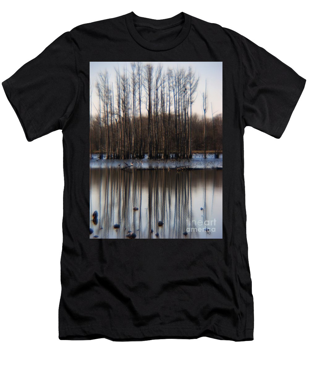Nature Men's T-Shirt (Athletic Fit) featuring the photograph Reflection by Amanda Barcon