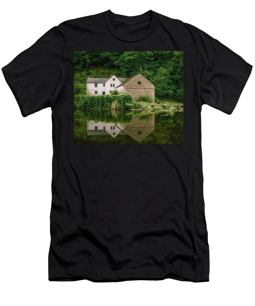 County Durham Men's T-Shirt (Athletic Fit) featuring the photograph Reflection. by John W Pattison