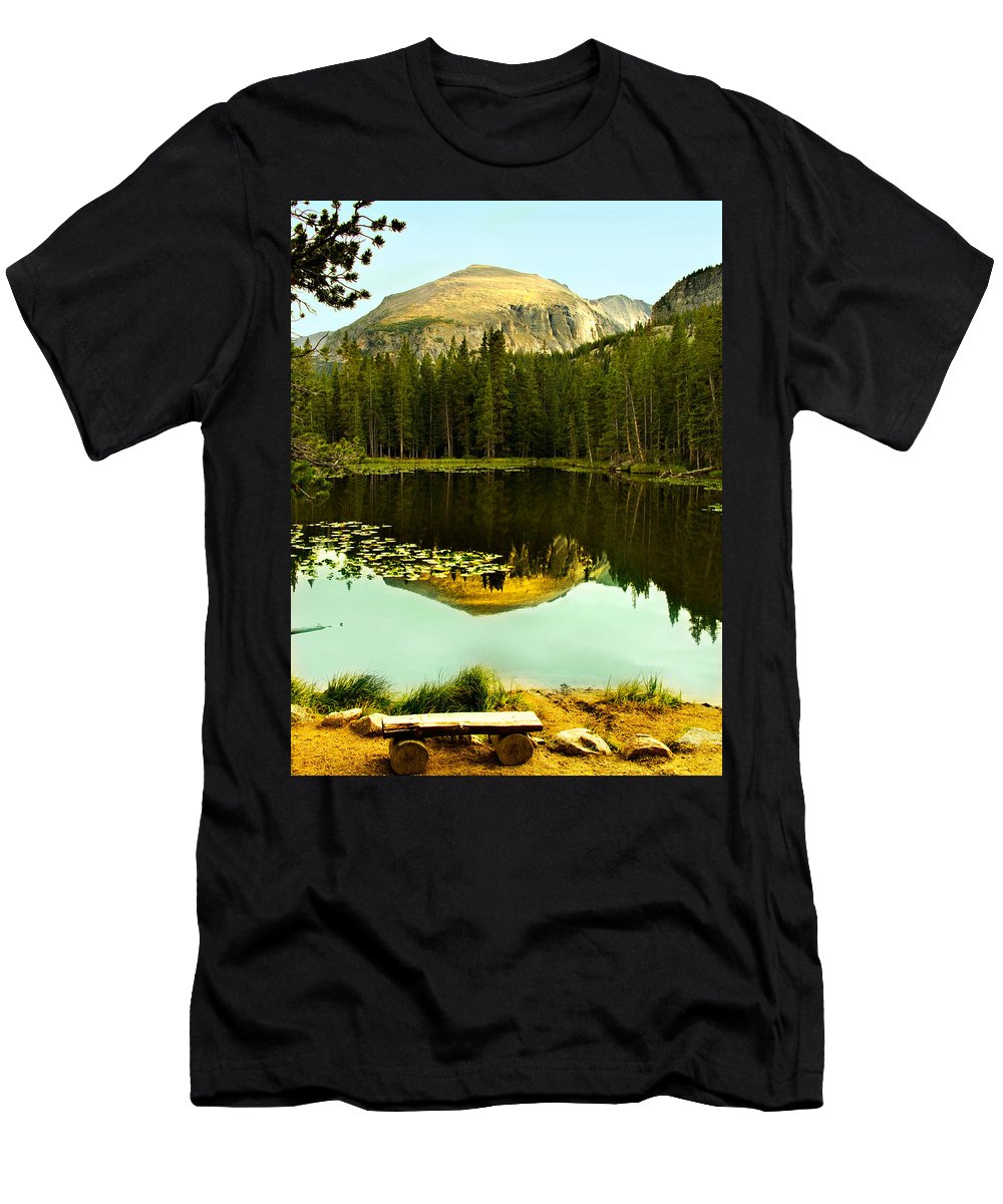 Reflection Men's T-Shirt (Athletic Fit) featuring the photograph Reflection by Marilyn Hunt