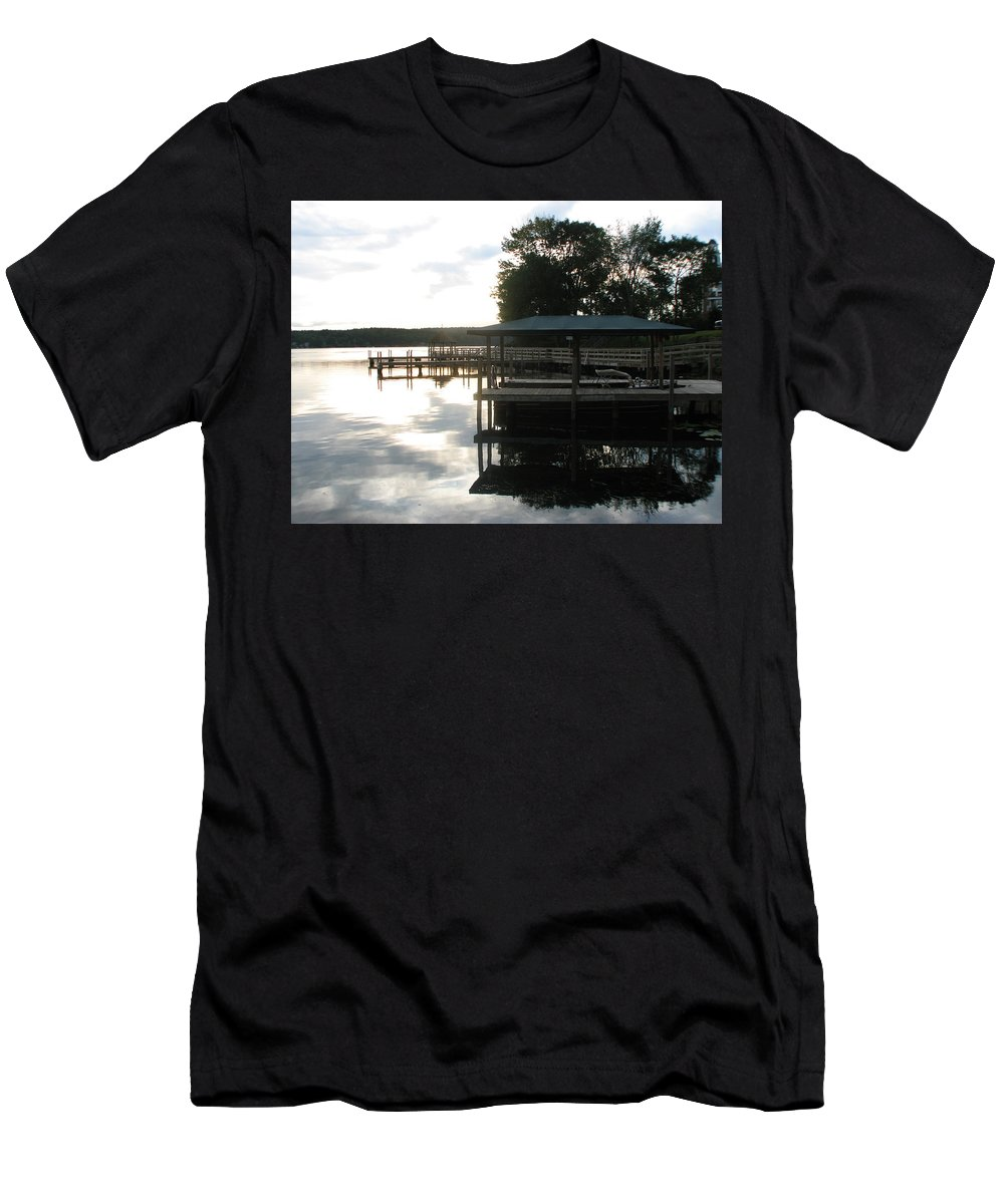 Meredith Nh Men's T-Shirt (Athletic Fit) featuring the photograph Reflection by Michael Mooney