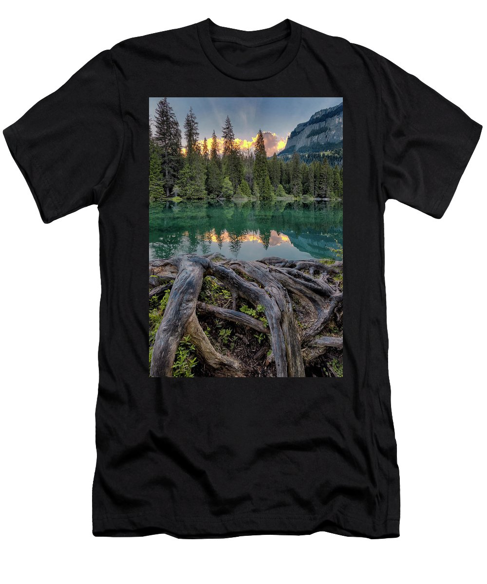 Landscape Men's T-Shirt (Athletic Fit) featuring the photograph Reflection by Nedjat Nuhi