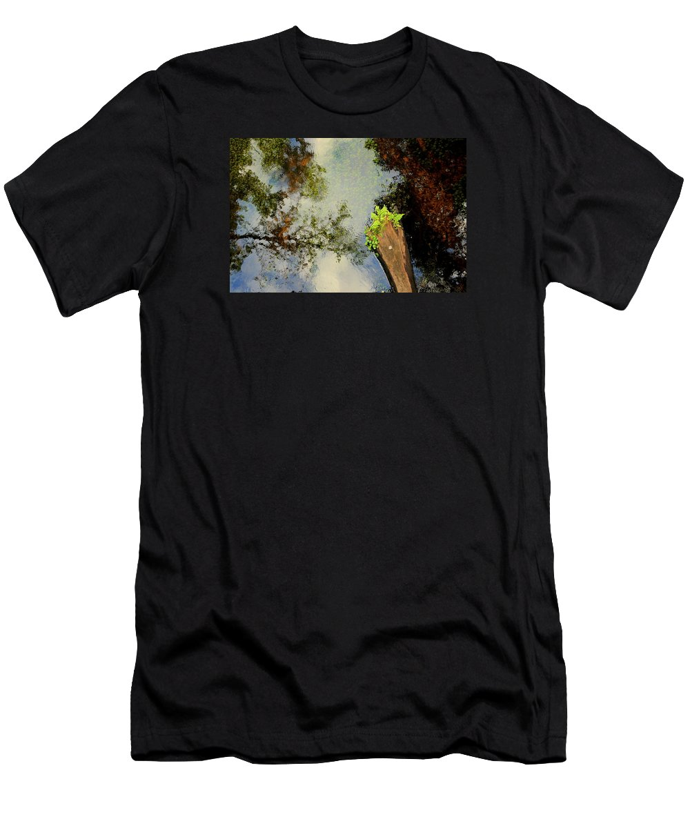 Water Men's T-Shirt (Athletic Fit) featuring the photograph Reflections by Dario Boriani