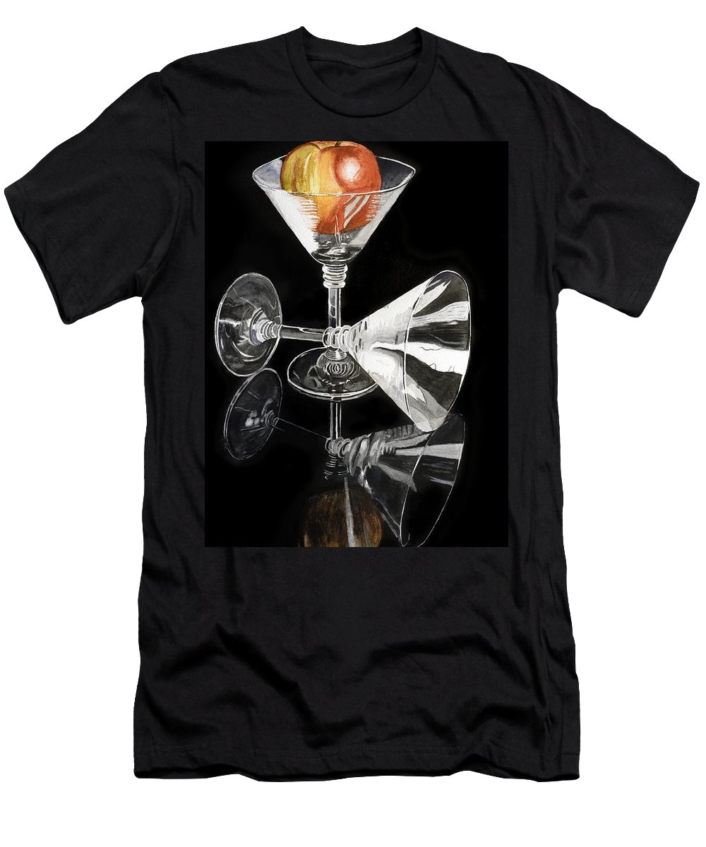 Reflections Men's T-Shirt (Athletic Fit) featuring the painting Reflections by Frank Hamilton