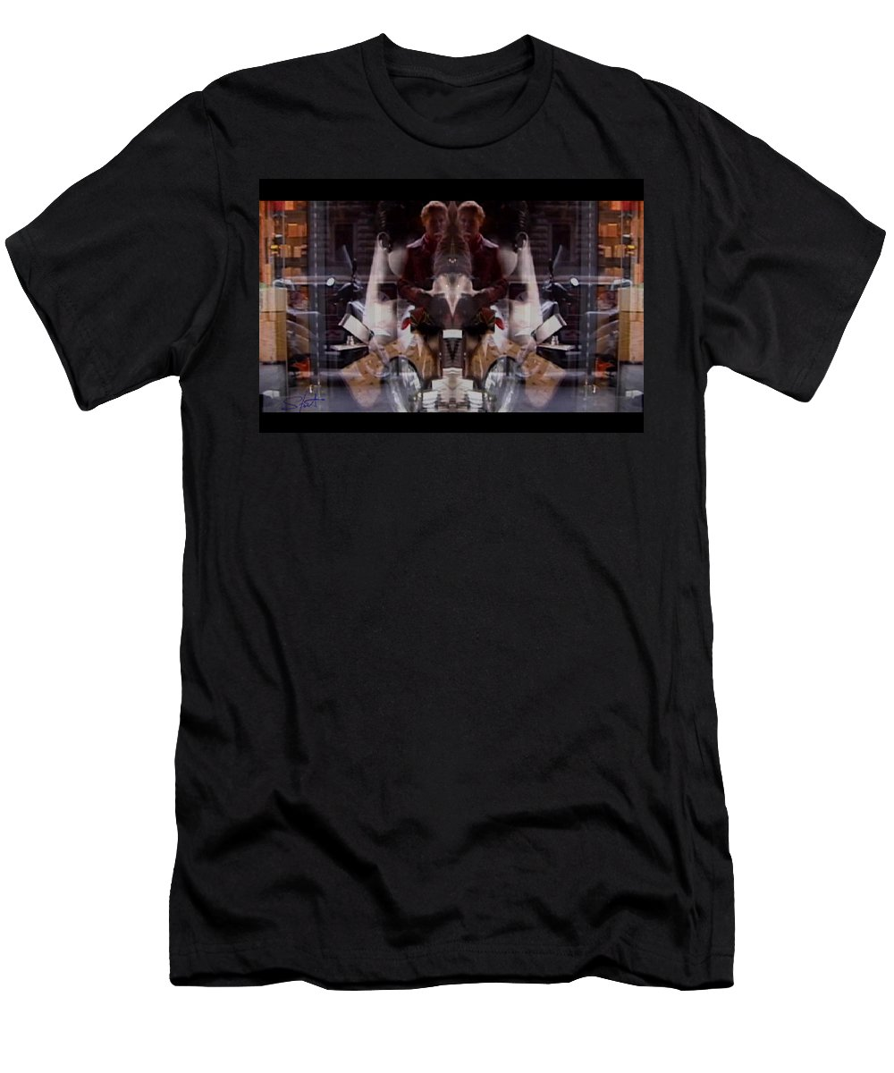 Dream Men's T-Shirt (Athletic Fit) featuring the photograph Reflections In A Pharmacy Window by Charles Stuart