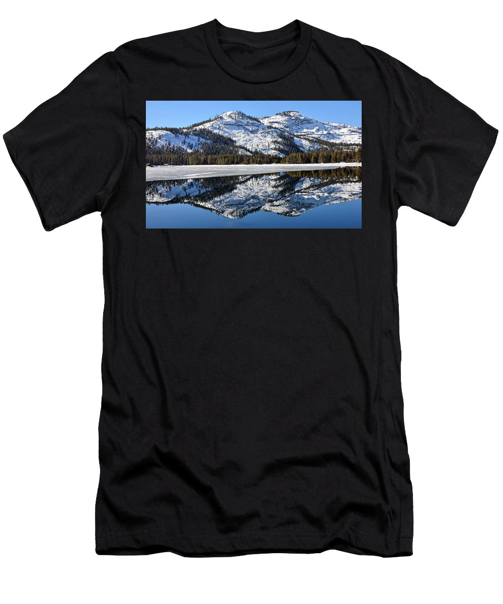 Mountains Men's T-Shirt (Athletic Fit) featuring the photograph Reflections by Michael Brown