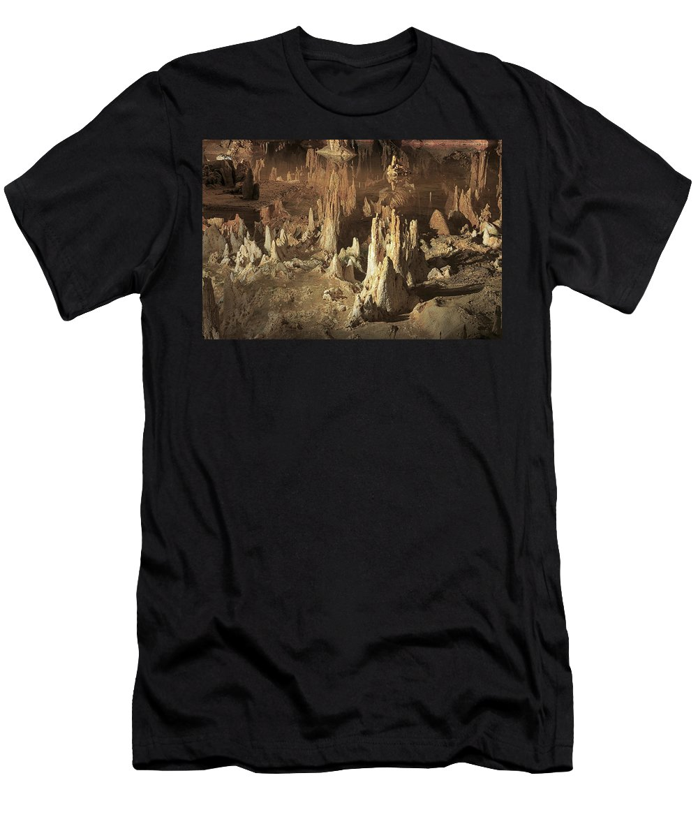Cavern Men's T-Shirt (Athletic Fit) featuring the photograph Reflections Of Reality by Travis Rogers