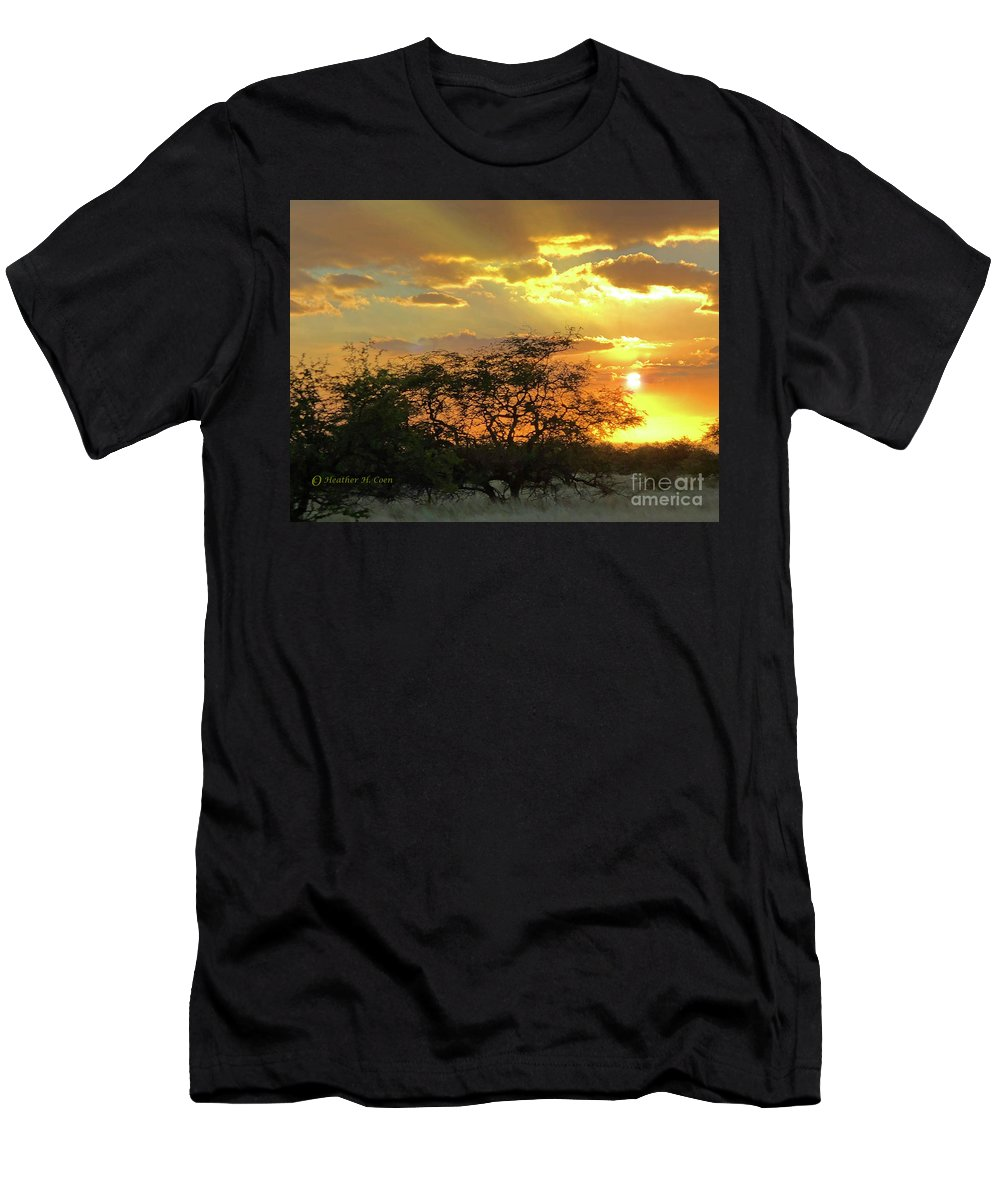 Hawaii T-Shirt featuring the photograph Reflections Sunset Hawaii by Heather Coen
