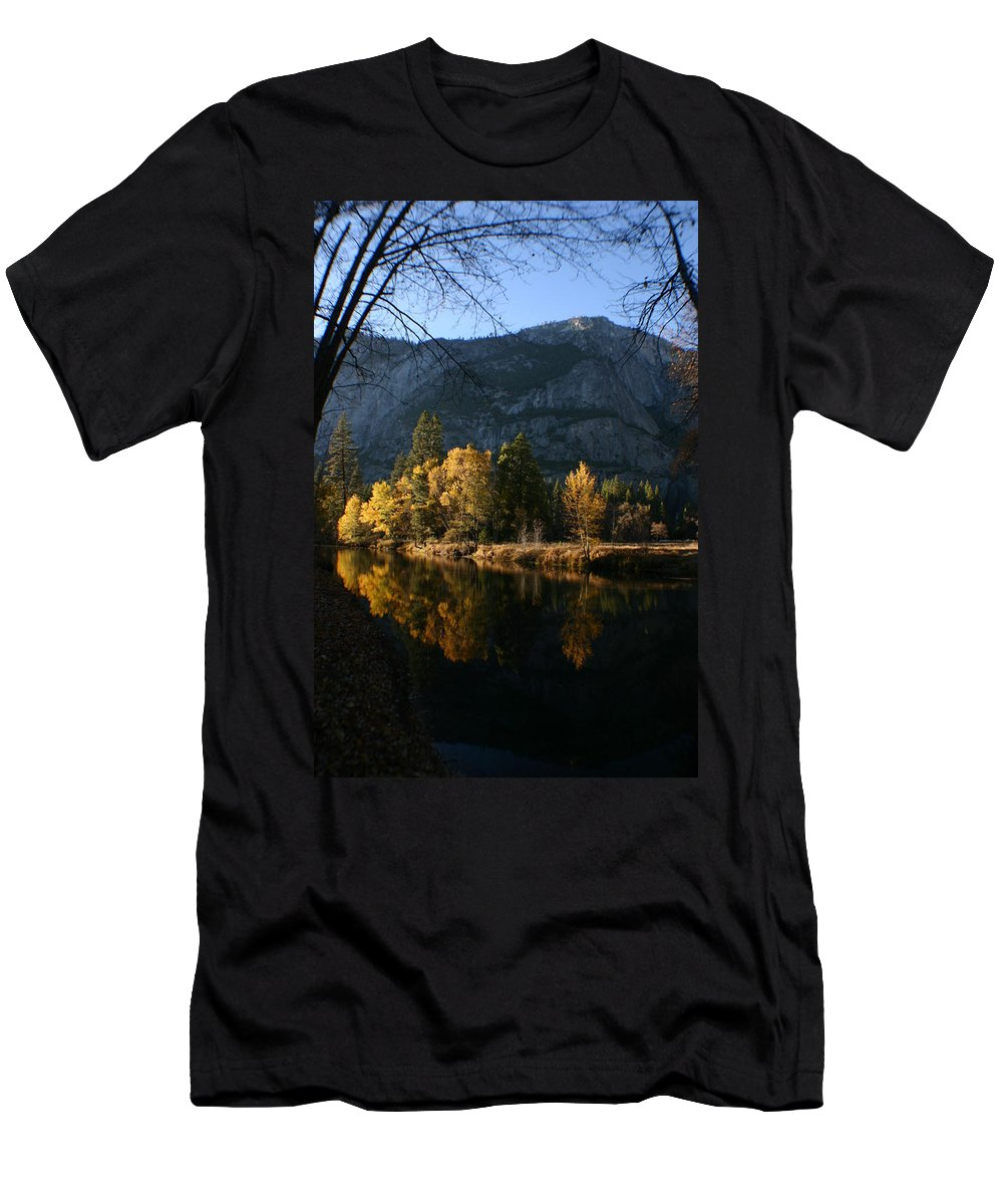 Yosemite Men's T-Shirt (Athletic Fit) featuring the photograph Reflections by Travis Day