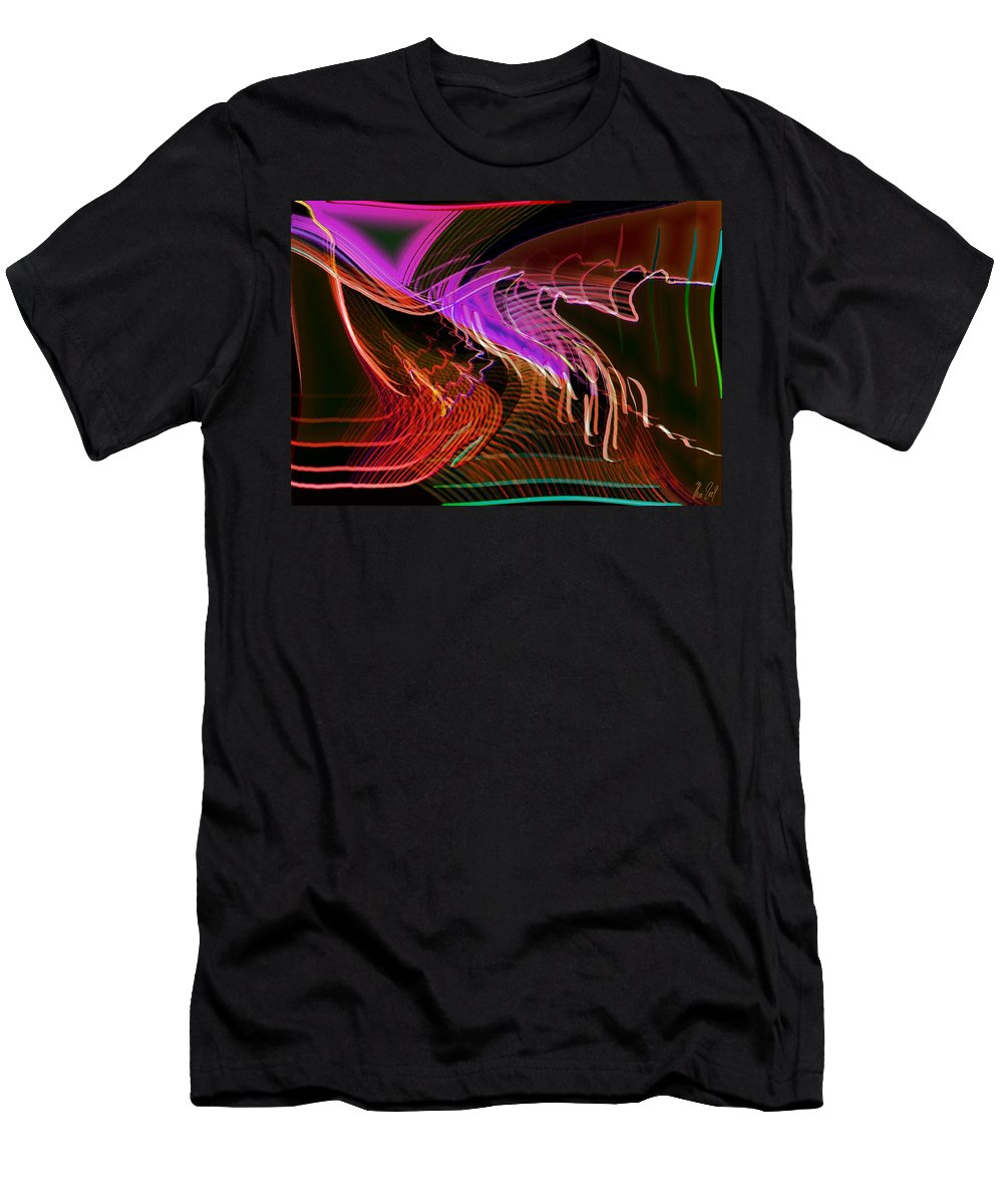 Drawing Men's T-Shirt (Athletic Fit) featuring the digital art Reflexions Red by Helmut Rottler