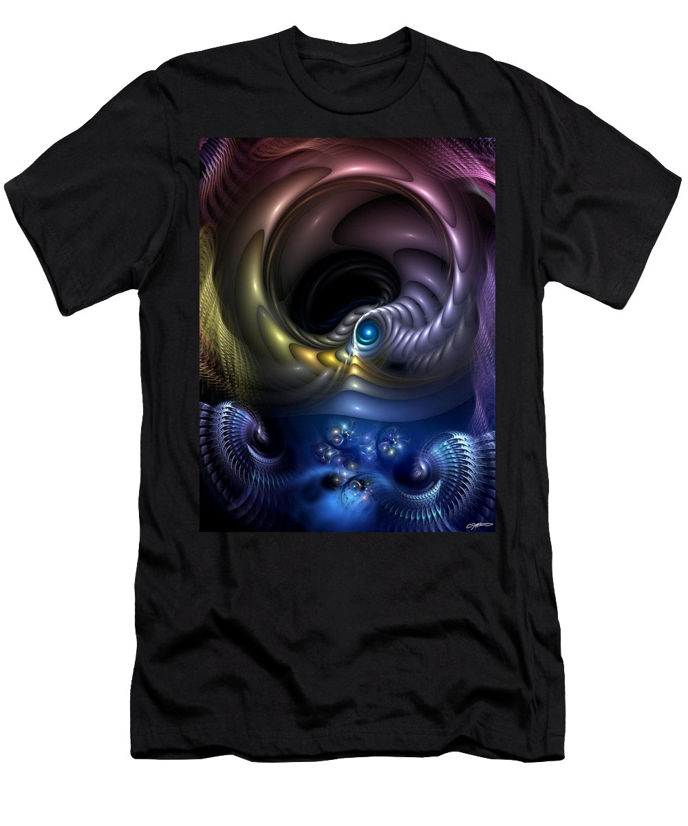 Abstract Men's T-Shirt (Athletic Fit) featuring the digital art Reincarnation - The Quandary by Casey Kotas
