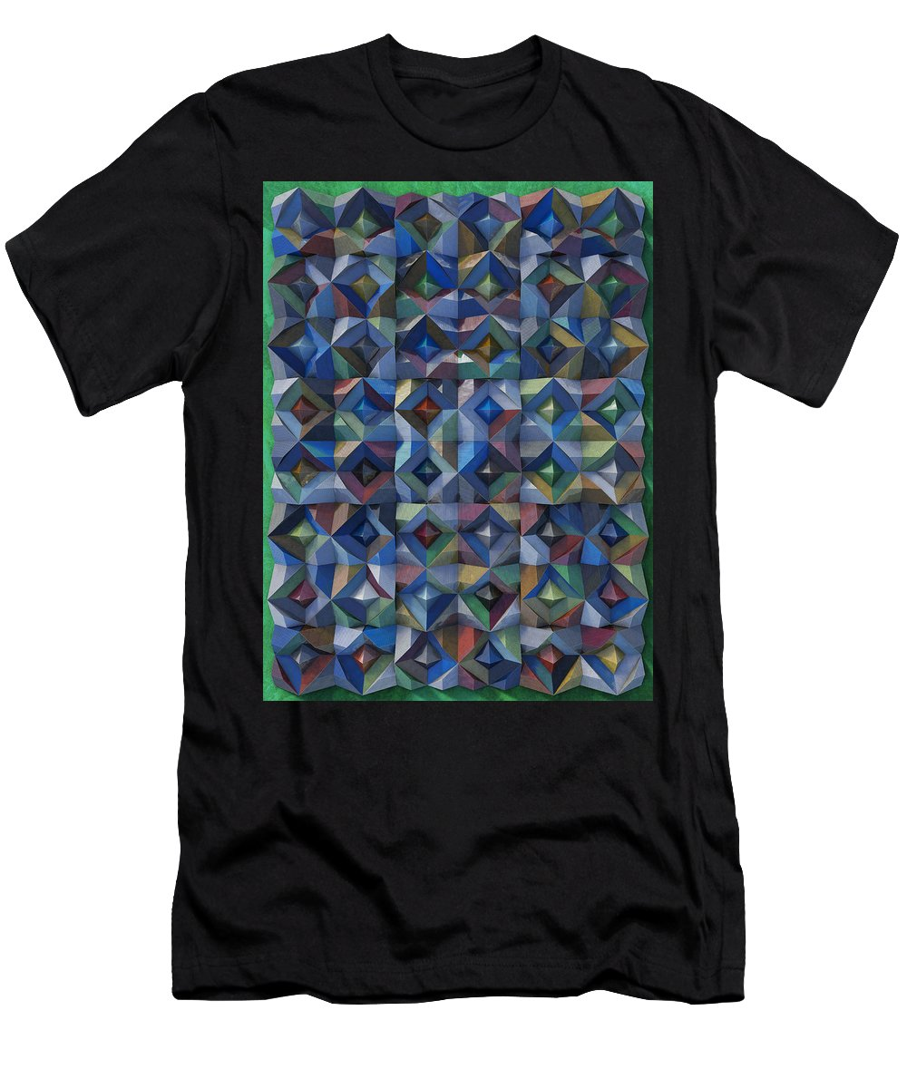 Relief Men's T-Shirt (Athletic Fit) featuring the photograph Relief M3 Corrugated Metal by Frans Blok