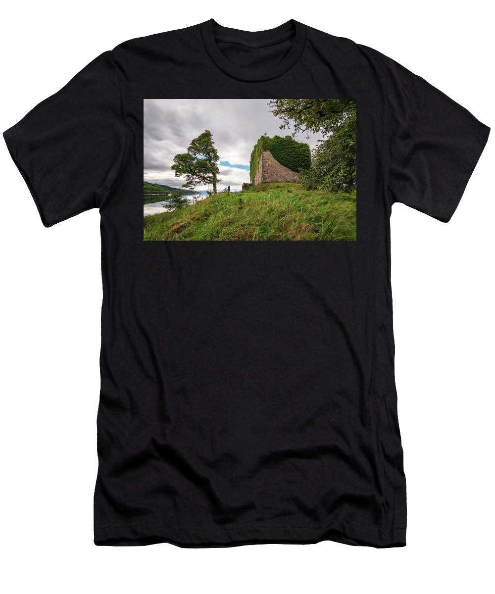 Ancient Men's T-Shirt (Athletic Fit) featuring the photograph Remains Of Castle Lachlan by David Head