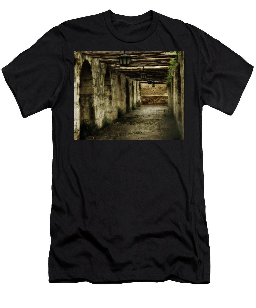 History T-Shirt featuring the photograph Remember The Alamo by Marie Leslie