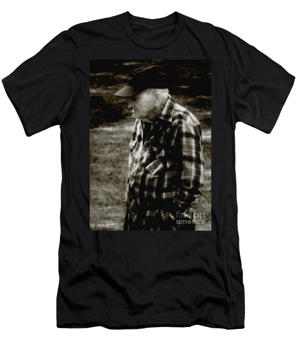Farmer Men's T-Shirt (Athletic Fit) featuring the photograph Remembering Hard Times by RC DeWinter