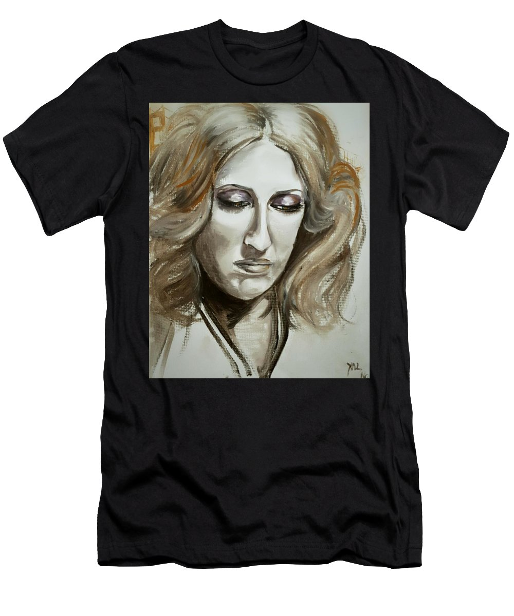 Nostalgia T-Shirt featuring the painting Remembering San Francisco by Alexandria Weaselwise Busen