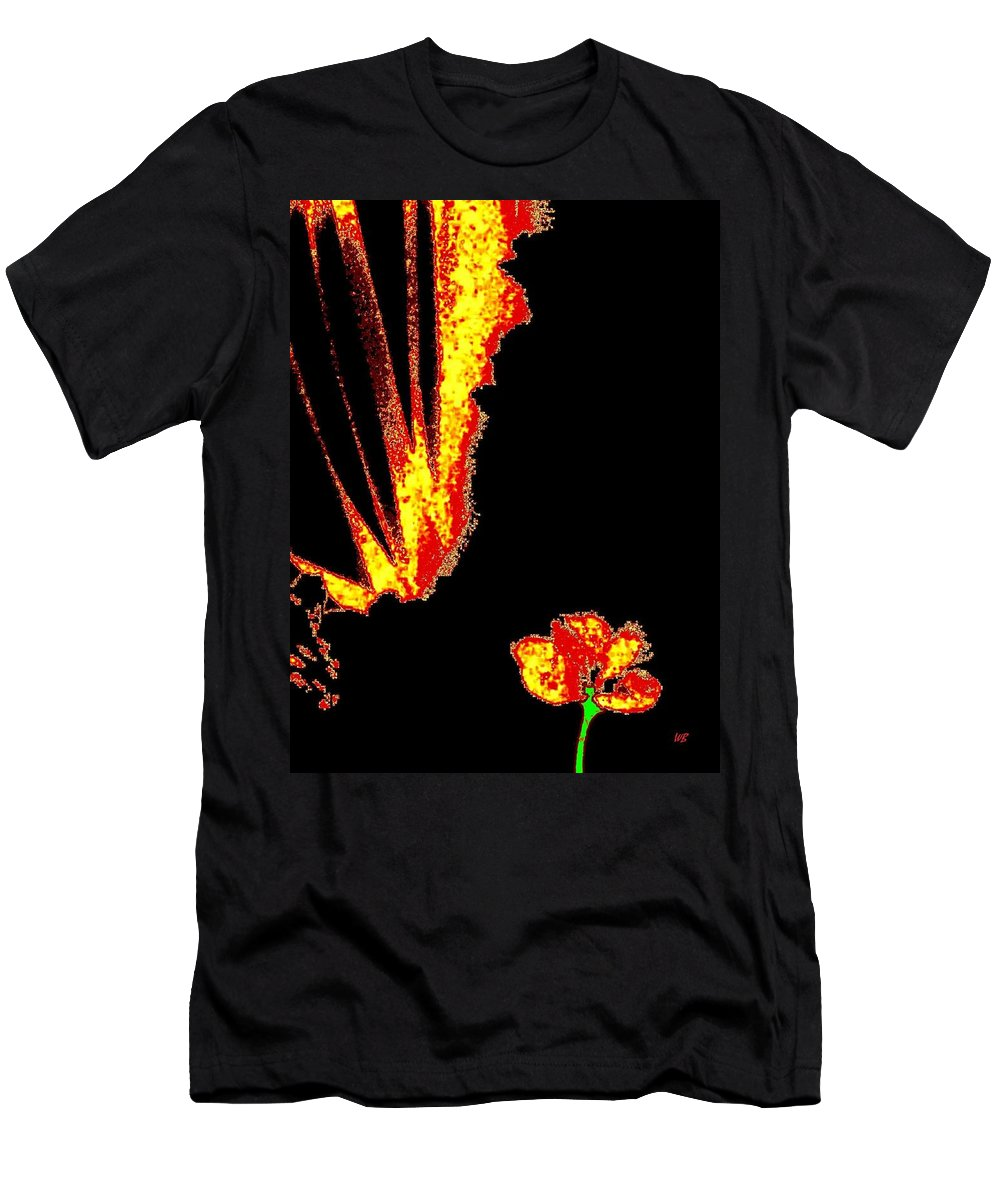 Abstract Men's T-Shirt (Athletic Fit) featuring the digital art Reminiscence by Will Borden