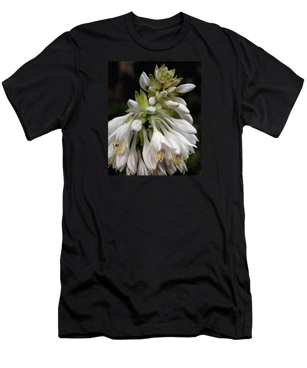 Hosta Men's T-Shirt (Athletic Fit) featuring the photograph Renaissance Lily by Marie Hicks