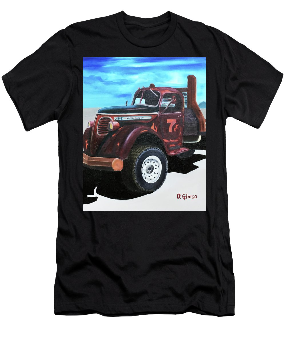Glorso Men's T-Shirt (Athletic Fit) featuring the painting Reo Speedwagon by Dean Glorso