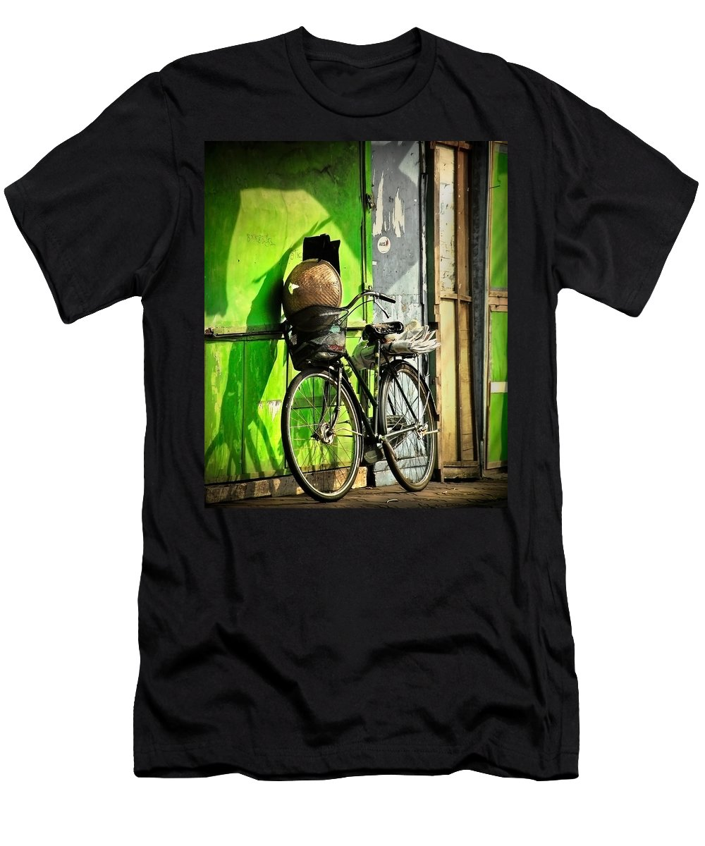 Men's T-Shirt (Athletic Fit) featuring the photograph Resting by Charuhas Images