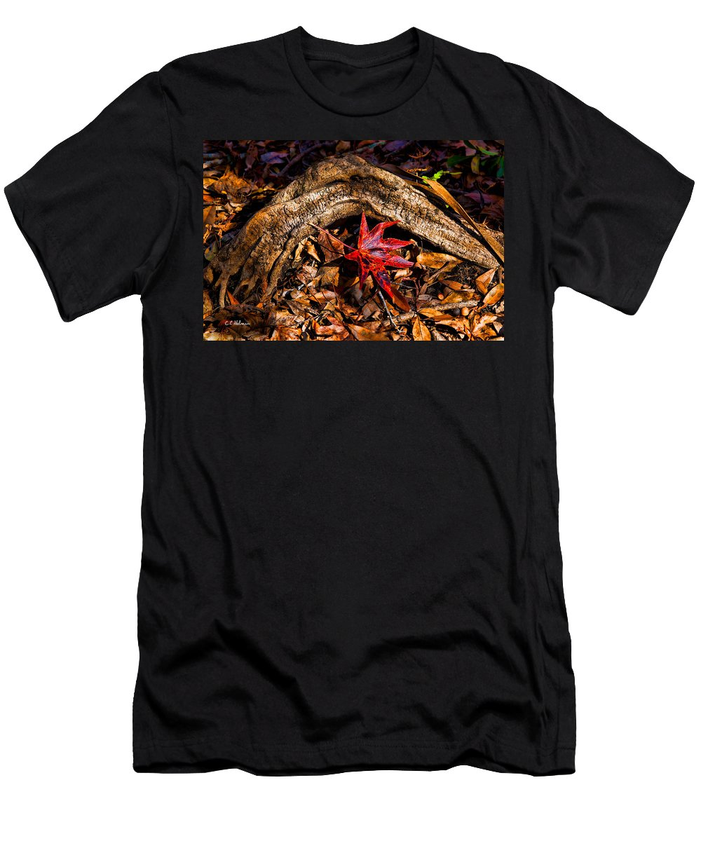 Nature Men's T-Shirt (Athletic Fit) featuring the photograph Resting In The Crook by Christopher Holmes