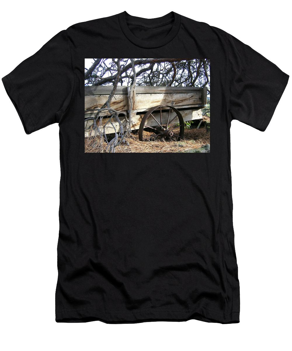 #retiredfarmwagon Men's T-Shirt (Athletic Fit) featuring the photograph Retired Farm Wagon by Will Borden