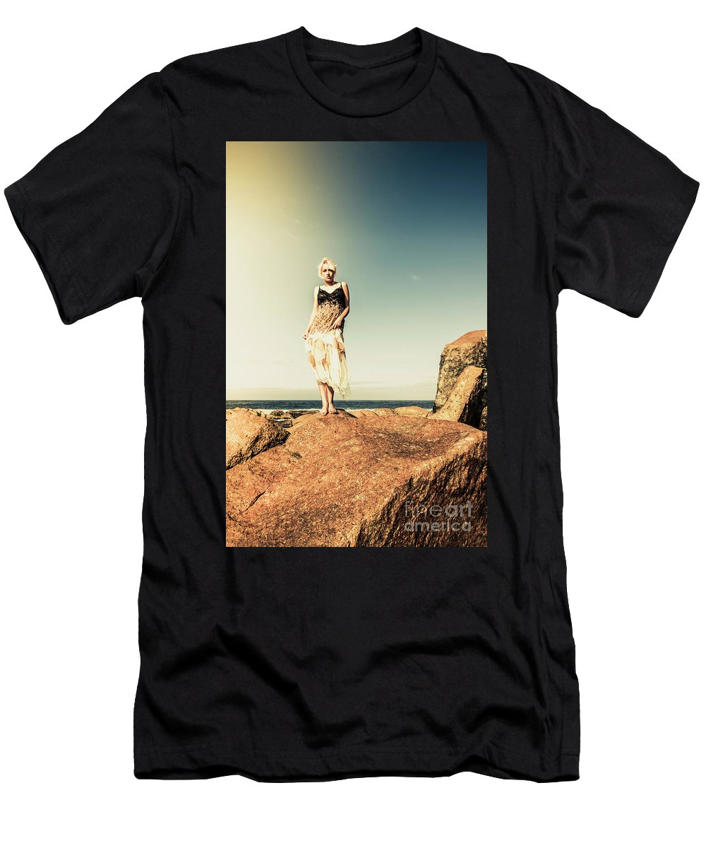 Retro Men's T-Shirt (Athletic Fit) featuring the photograph Retro Beach Fashions by Jorgo Photography - Wall Art Gallery