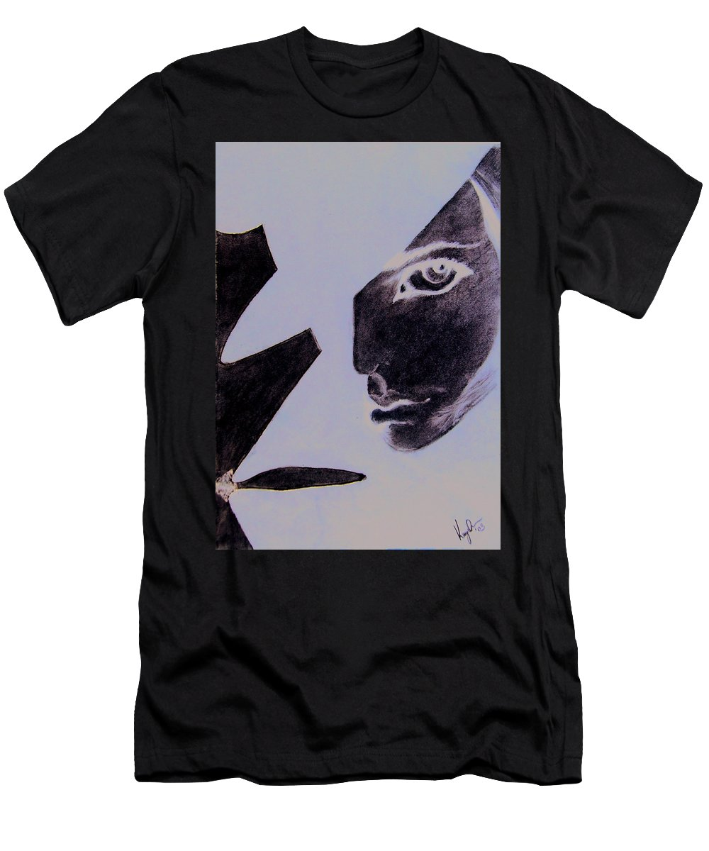 Black Men's T-Shirt (Athletic Fit) featuring the pastel Revenge by Kayon Cox