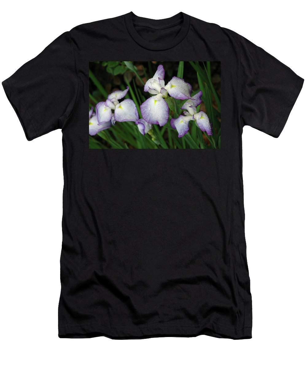 Iris Men's T-Shirt (Athletic Fit) featuring the photograph Rhapsody by Marie Hicks