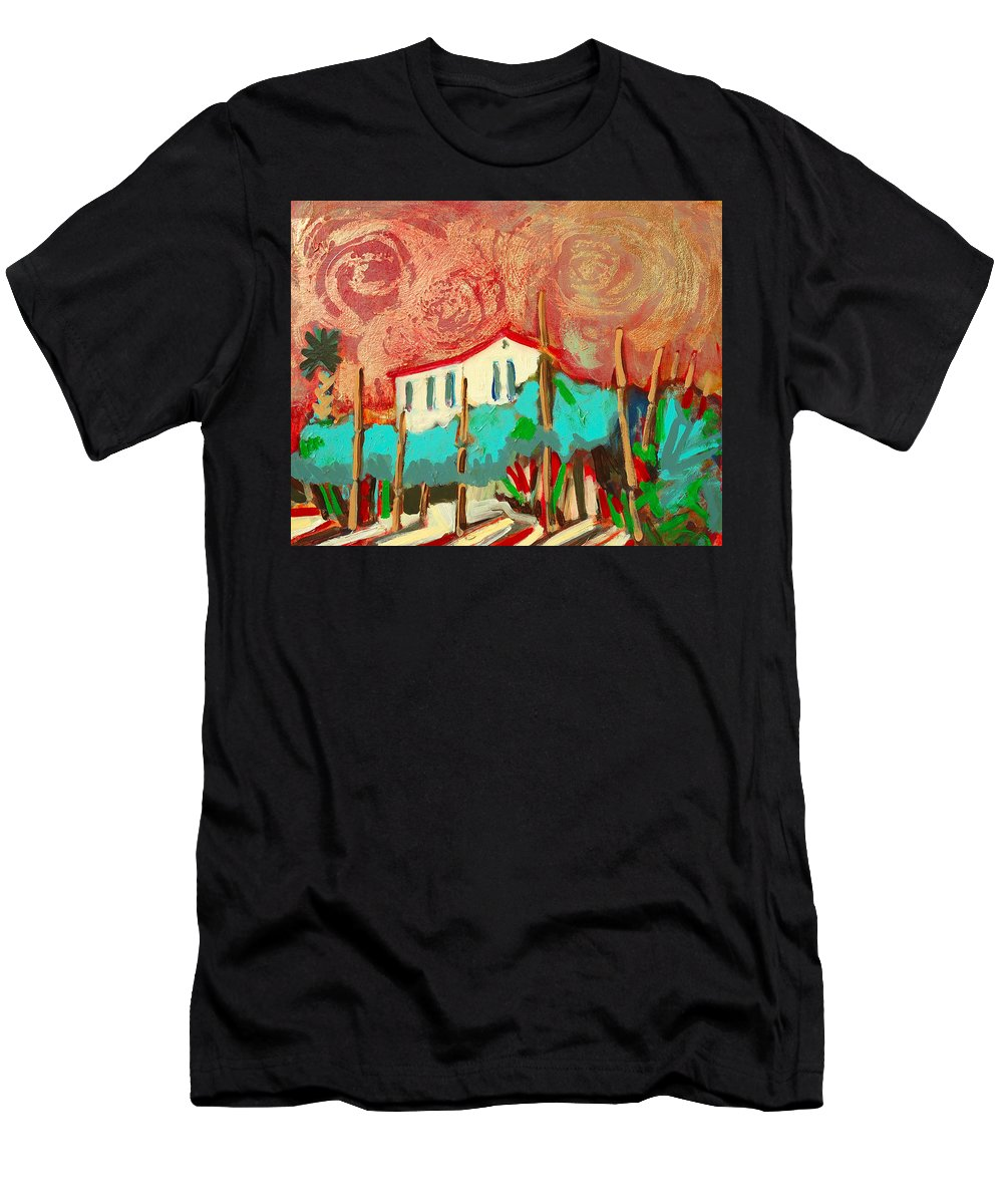 Tuscany Men's T-Shirt (Athletic Fit) featuring the painting Ricordare by Kurt Hausmann