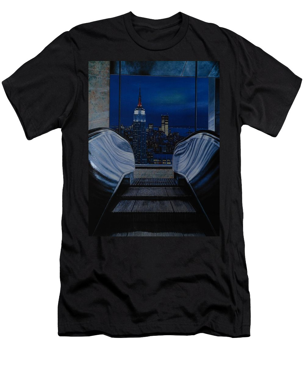 Lithograph Men's T-Shirt (Athletic Fit) featuring the photograph Right To The Top by Rob Hans