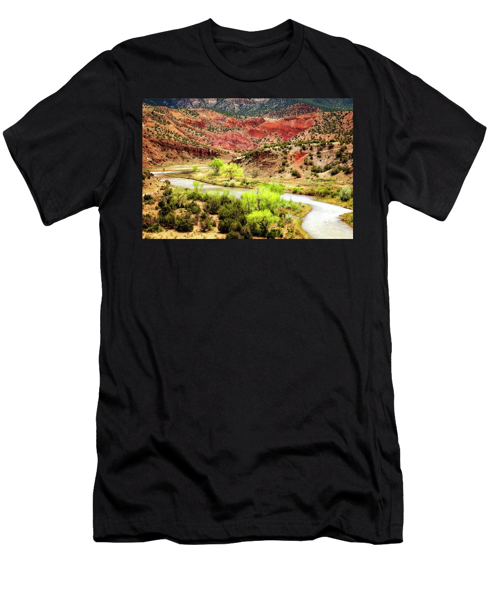 Chama River Men's T-Shirt (Athletic Fit) featuring the photograph Rio Chama Overlook 2 by Diana Powell
