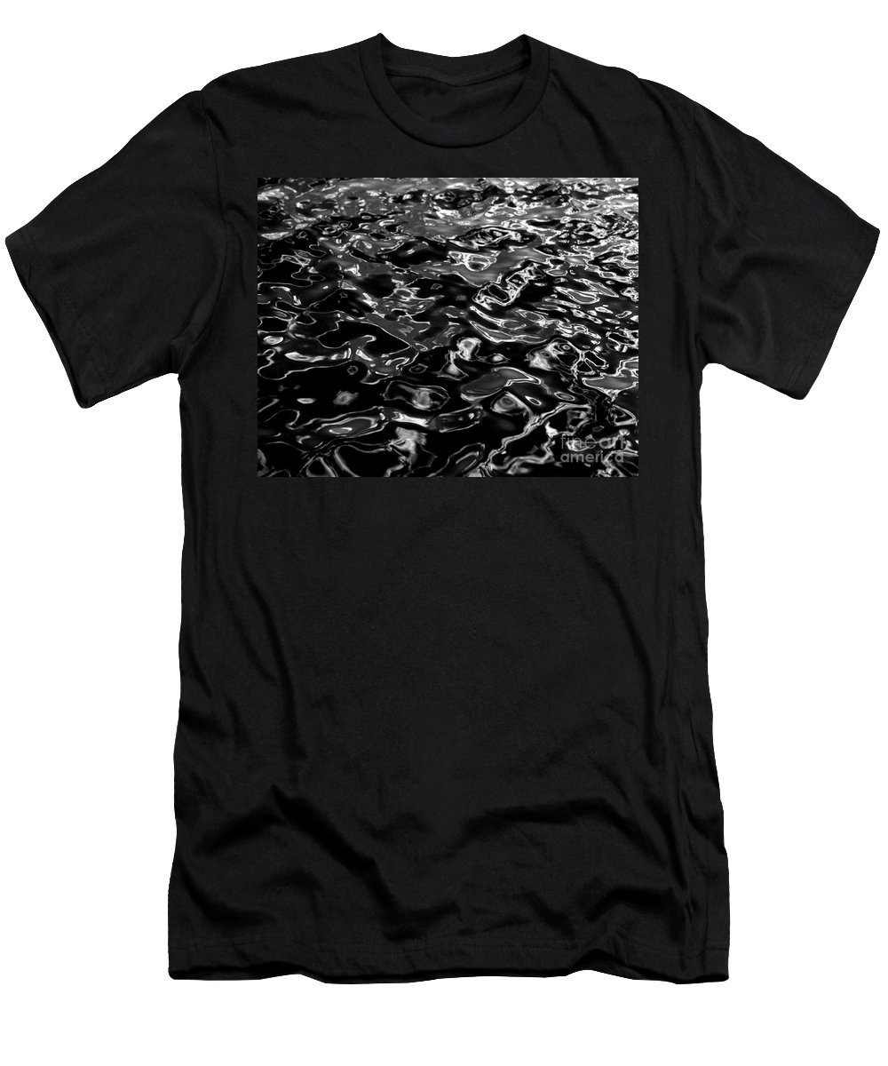 Black And White Men's T-Shirt (Athletic Fit) featuring the photograph Ripples by Peter Piatt